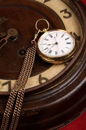heirlooms: fob oro vecchio orologio da tasca che in antico orologio