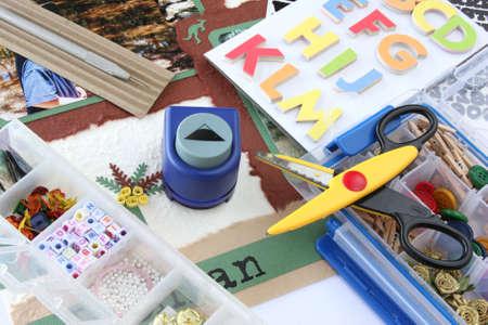 paper craft: Una selecci�n de scrapbooking-artesan�a de materiales