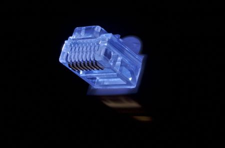 RJ45 connector in blue