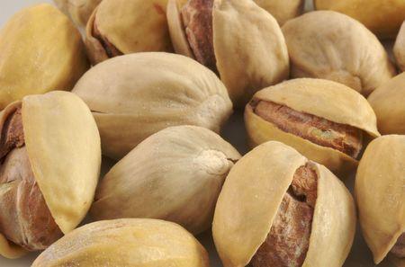 salty pistachio closeup