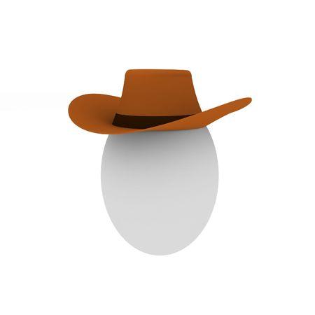 wildwest: Isolati uovo in cowboy cappello  Archivio Fotografico