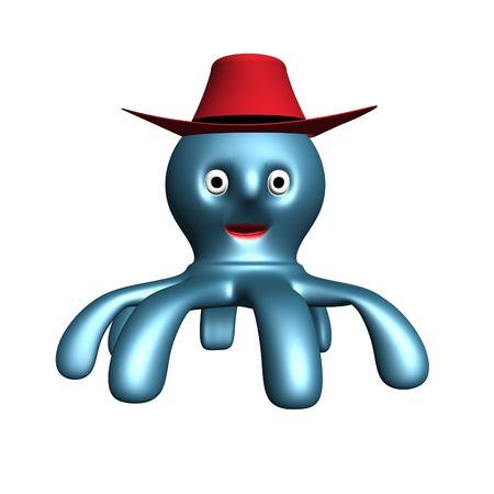 wildwest: Polpo con cappello da cowboy