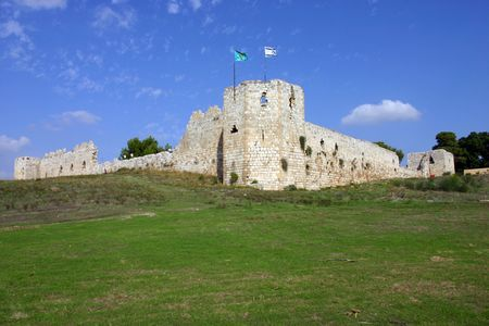 oversee: Binar Bashi Ottoman fortress in Antipatris (Tel-Afek), Israel