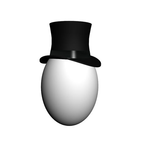 intrigue: Egg in classic top hat Stock Photo