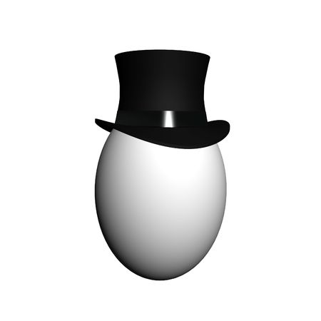 aristocrat: Egg in classic top hat Stock Photo