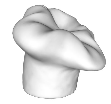 attribute: Render of a white chef hat