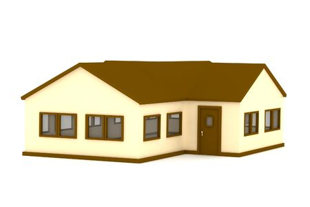 maquette: Render of a one floor house