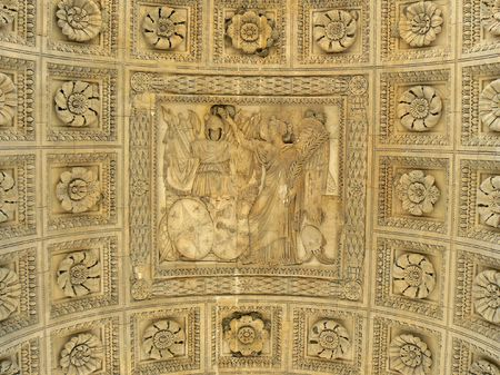 ceiling plate: Roof of the Triumphal arch in Paris, France