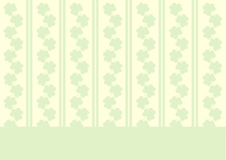 St. Patricks wallpaper with shamrocks and stripes Vector