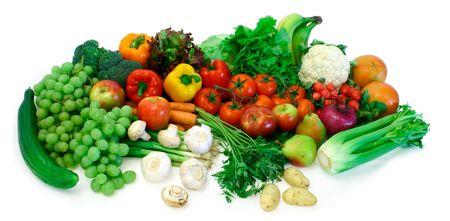 nutriments: Frutas y Verduras  Foto de archivo