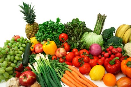 nutriments: Colorful Vegetables and Fruits Stock Photo