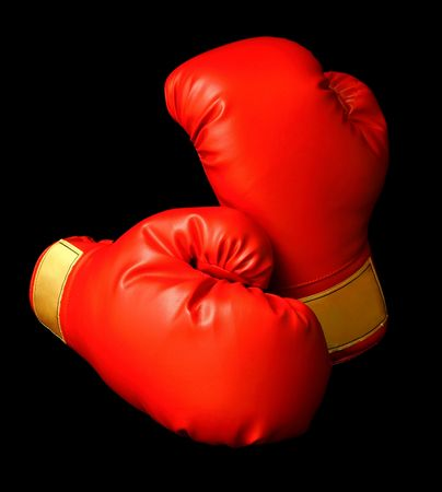 cushioned: Red Boxing Gloves Stock Photo