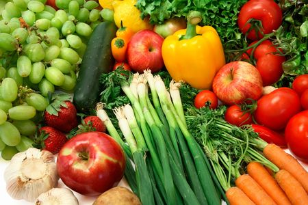 nonfat: Close-up of Vegetables and Fruits