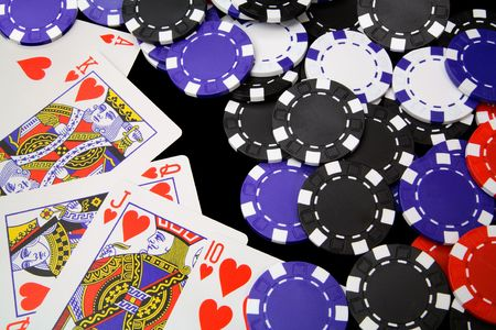 Winning With a Royal flush Stock Photo - 950162