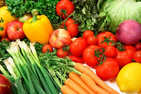 nutriments: Colorido de hortalizas y frutas  Foto de archivo