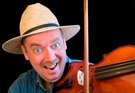 solo violinist: Fiddle Player Stock Photo