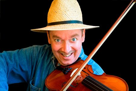solo violinist: Fiddle Player Stock Photo