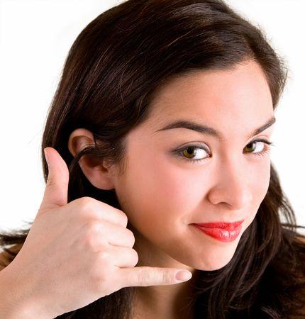 call me: Call Me Sign Stock Photo