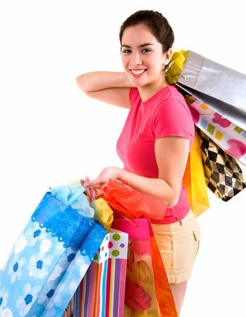Young Woman on a Shopping Spree Stock Photo - 2373912