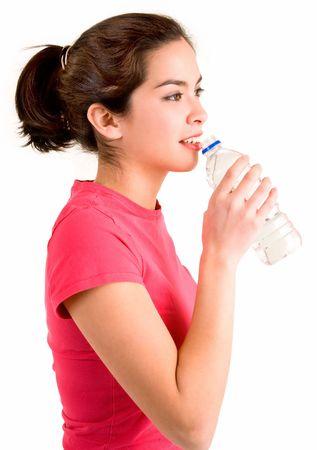 slurp: Joven mujer de agua potable