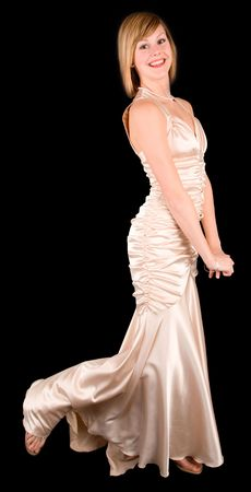 evening gown: Beautiful Young Lady Wearing an Evening Gown