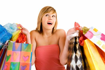 Young Woman on a Shopping Spree Stock Photo - 2505117