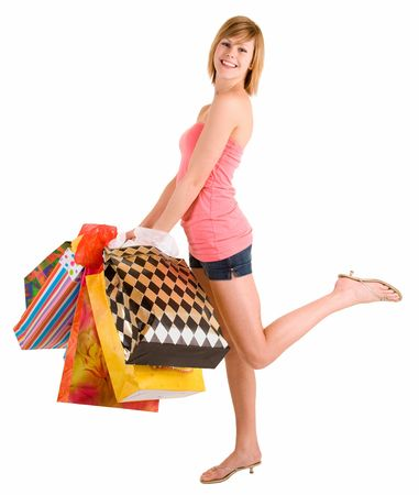 Young Woman on a Shopping Spree photo