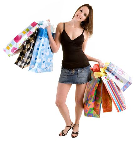 Young Woman on a Shopping spree Stock Photo - 2547116