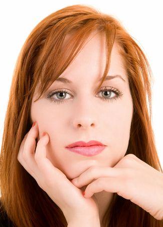 Portrait of a Beautiful Redhead Girl photo