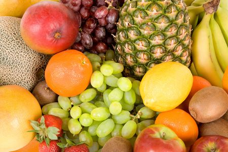 nonfat: Colorful Fruits Stock Photo