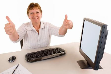 commendation: Thumbs Up Stock Photo
