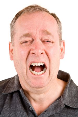 uptight: Screaming for Help Stock Photo