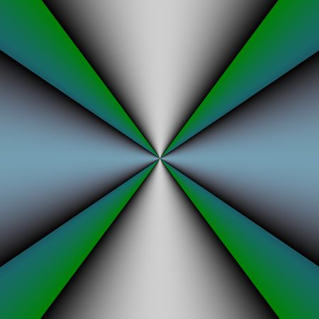 blue metallic background: Metallic cross on a green and blue background