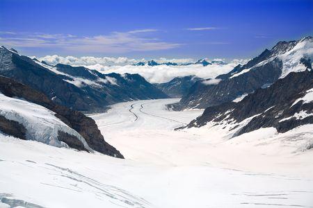 aletsch: Aletsch Glacier in the Alps Switzerland