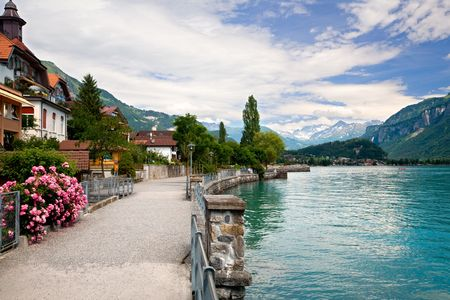 TWalking by the Lake in Brienz, Berne, Switzerland