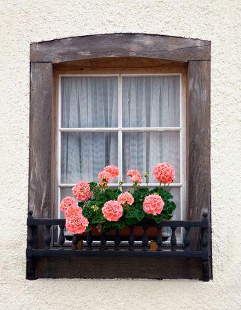 Old European Wooden Window photo