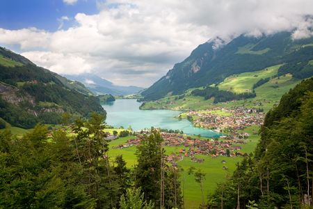 canton: Beautiful landscape in the canton of Fribourg, Switzerland  Stock Photo
