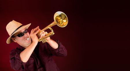 instrumentalist: Trumpet Player Trumpeting an Announcement