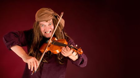 announcing: Pirate Playing Violin and Announcing Something