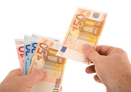 negotiable instrument: Paying Cash with Euro Currency