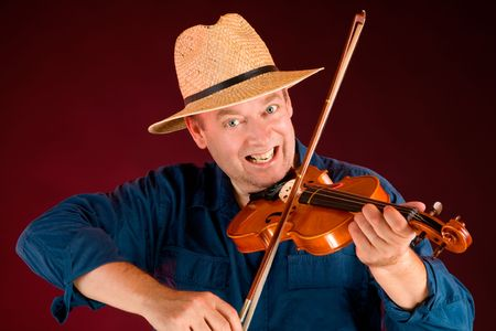fiddle: Fiddle Player Stock Photo