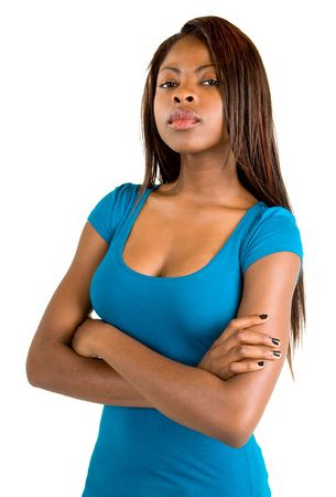 african business: Attractive and Serious African American Lady