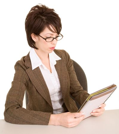 Businesswoman Reading her Notes photo
