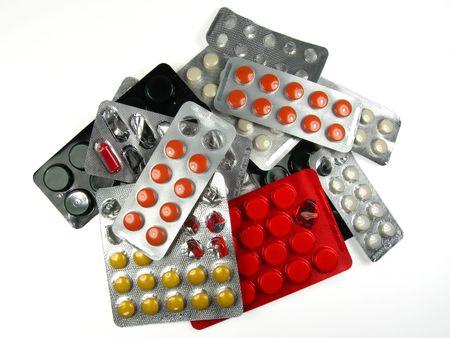 bolus: Heap of pills packs