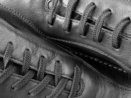 close-up fragment of the leather moccasins Stock Photo - 855648