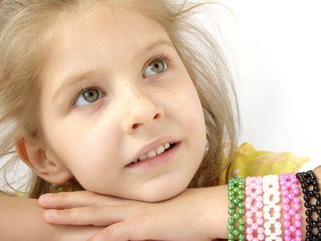 naivete: portrait of the little pretty girl