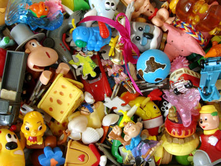 set of small colorful child toys
