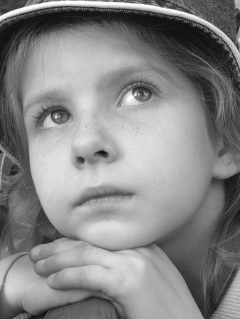 little pretty girl autumnal mood portrait