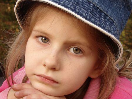 little pretty girl autumnal portrait