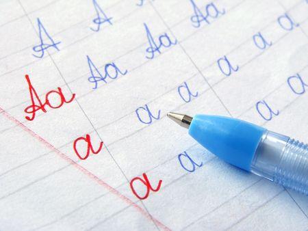 workbook: first alphabet writing in primary workbook
